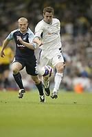 Photo: Aidan Ellis.<br /> Leeds United v Swansea City. Coca Cola League 1. 22/09/2007.<br /> Leeds Frazer Richardson and Swansea's Warren Feeney (L) chase the ball.