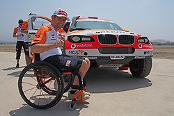 January 5, 2019 - Lima, Lima, Peru - BMW 324, Isidre Esteve wheelchair rider from Spain,  Repsol Rally team, passing the technical scrutineering. The Dakar rally runs this year 100% in Peru. (Credit Image: © Carlos Garcia Granthon/ZUMA Wire)