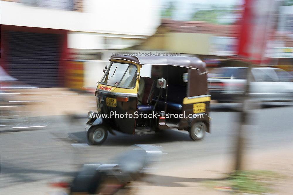 auto rickshaws, India, Kerala, a state on the tropical coast of south west India