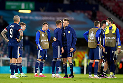 Scotland's Stephen O'Donnell (centre right) reacts after the UEFA Euro 2020 Group D match at Hampden Park, Glasgow. Picture date: Tuesday June 22, 2021.