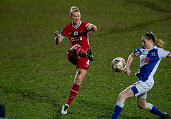 BIRKENHEAD, ENGLAND - Sunday, March 28, 2021: Liverpool's Rhiannon Roberts during the FA Women's Championship game between Liverpool FC Women and Blackburn Rovers Ladies FC at Prenton Park. The game ended in a 1-1 draw. (Pic by David Rawcliffe/Propaganda)