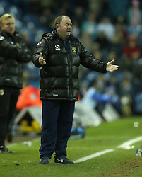 Yeovil Town Manager, Gary Johnson questions a decision-Photo mandatory by-line: Matt Bunn/JMP - Tel: Mobile: 07966 386802 02/11/2013 - SPORT - FOOTBALL - Elland Road - Leeds - Leeds United v Yeovil Town - Sky Bet Championship