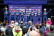 Men Road Race 230,4 km, team France, during the Cycling European Championships Glasgow 2018, in Glasgow City Centre and metropolitan areas, Great Britain, Day 11, on August 12, 2018 - Photo Luca Bettini / BettiniPhoto / ProSportsImages / DPPI - Belgium out, Spain out, Italy out, Netherlands out -