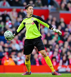 Brad Jones in action for the Gerrard XI - Photo mandatory by-line: Matt McNulty/JMP - Mobile: 07966 386802 - 29/03/2015 - SPORT - Football - Liverpool - Anfield Stadium - Gerrard's Squad v Carragher's Squad - Liverpool FC All stars Game