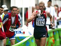 Athletics, 23. august 2003, VM Paris, World Championschip in Athletics,  Erik Tysse, Norway and trainer Stephan Plätzer