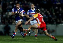 Wakefield Trinity's Tinirau Arona in action during the Betfred Super League match at Belle Vue, Wakefield.