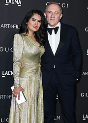 LOS ANGELES, CA, USA - NOVEMBER 03: 2018 LACMA Art + Film Gala held at the Los Angeles County Museum of Art on November 3, 2018 in Los Angeles, California, United States. 03 Nov 2018 Pictured: Salma Hayek Pinault, Francois-Henri Pinault. Photo credit: Xavier Collin/Image Press Agency/MEGA TheMegaAgency.com +1 888 505 6342