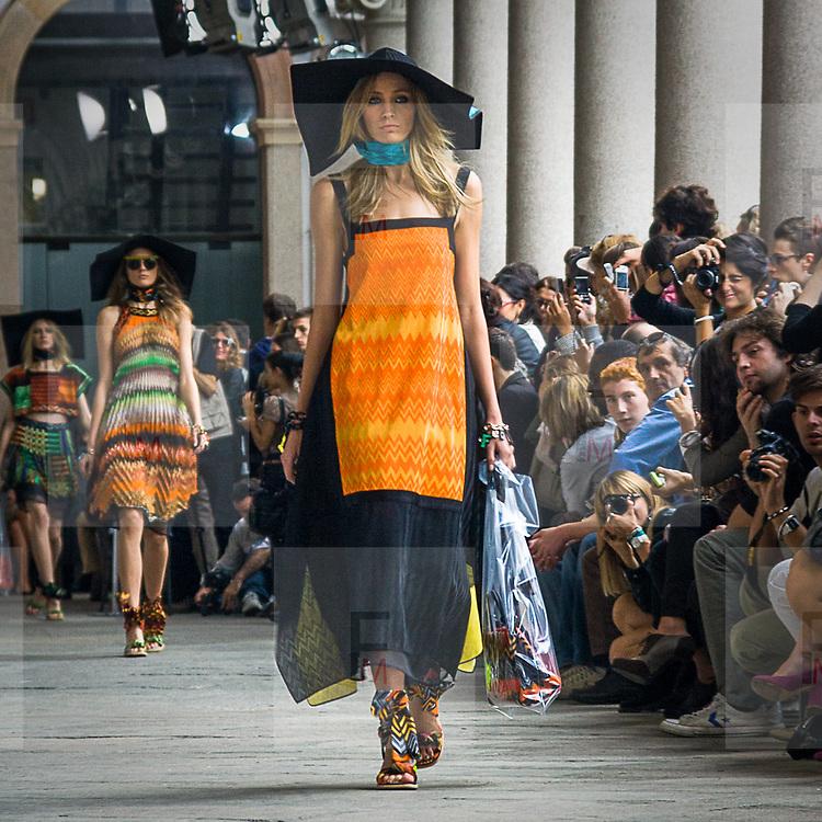 Sfilata di Missoni all'università statale di Milano<br /> <br /> Missoni fashion show at the University of Milan.