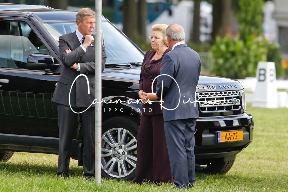 Queen Beatrix visiting Breda Hippique with Princesses Amalia and Ariana<br /> Breda Hippique 2010<br /> Also in the picure (l) Bert Wassenaar, equerry to the Queen<br /> © Dirk Caremans