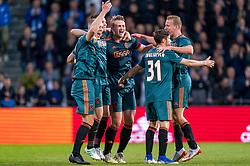 15-05-2019 NED: De Graafschap - Ajax, Doetinchem<br /> Round 34 / It wasn't really exciting anymore, but after the match against De Graafschap (1-4) it is official: Ajax is champion of the Netherlands / Matthijs de Ligt #4 of Ajax, Rasmus Kristensen #2 of Ajax, Daley Blind #17 of Ajax, Nicolas Tagliafico #31 of Ajax