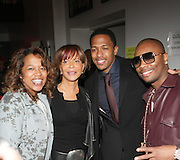 l to r: Danyell Smith, Sylvia Rhone, Nick Cannon, and Ron Browz at The Vibe Magazine Presents Vsessions Live! Hosted by the Fabulous Toccara featuring Hal Linton, Suai and Ron Browz held at Joe's Pub on February 25, 2009 in NYC