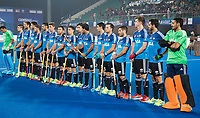 BHUBANESWAR -  Hockey World League finals ,  .Team Argentina.  Line up. Argentina v Spain . Team Argentina. COPYRIGHT KOEN SUYK