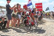 John Degenkolb (GER - Trek - Segafredo) on the cobbles of sector 3 during the 105th Tour de France 2018, Stage 9, Arras Citadelle - Roubaix (156,5km) on July 15th, 2018 - Photo George Deswijzen / Proshots / ProSportsImages / DPPI