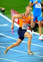 01-08-2010 ATLETIEK: EUROPEAN ATHLETICS CHAMPIONSHIPS: BARCELONA<br /> Netherlands 4x400 meter relay - Robert Lathouwers<br /> ©2010-WWW.FOTOHOOGENDOORN.NL