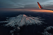 Mt Rainier from a window seat on a flight from Seattle to Bismarck