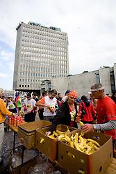 Food at the finish line of the 14th Marathon of Ljubljana, on October 25, 2009, in Ljubljana, Slovenia.  (Photo by Vid Ponikvar / Sportida)