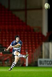Bristol Rugby Fly-Half Matthew Morgan kicks a Penalty - Mandatory byline: Rogan Thomson/JMP - 22/01/2016 - RUGBY UNION - Ashton Gate Stadium - Bristol, England - Bristol Rugby v Ulster A - British & Irish Cup.