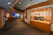 Interpretive display, Carl Hayden Visitor Center at Glen Canyon Dam, Glen Canyon National Recreation Area, Page, Arizona USA