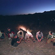 TOMBSTONE, AZ - June 22, 2003:  Migrants are detained in the Arizona desert on June 22, 2003, just south of Tombstone by a group of citizens who have taken it upon themselves to police the border. Led by Chris Simcox, the group stops migrants believed to have crossed illegally into the US and then calls the Border Patrol. (Photo by Todd Bigelow/Aurora) Please contact Todd Bigelow directly with your licensing requests.