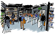 Amazon Go, the world's first ever cashier-free store, opened to the public in Seattle. (Gabriel Campanario / The Seattle Times)