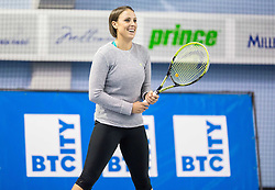 Andreja Klepac at Tennis Exhibition after the Slovenian Tennis personality of the year 2014 annual awards presented by Slovene Tennis Association TZS , on December 6, 2014 in Millenium Centre, BTC, Ljubljana, Slovenia. Photo by Vid Ponikvar / Sportida