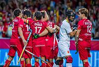 ANTWERP - BELFIUS EUROHOCKEY Championship  . Belgium v Spain (men) (5-0).goal for Belgium. Alexander Hendrickx (Belgie) scored. WSP/ KOEN SUYK