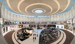 Interior of atrium at Fashion Avenue in Dubai Mall in Dubai United Arab Emirates