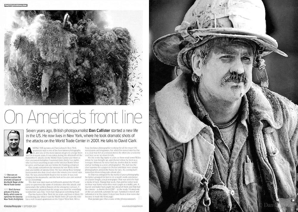 Media coverage of Dan Callister's work