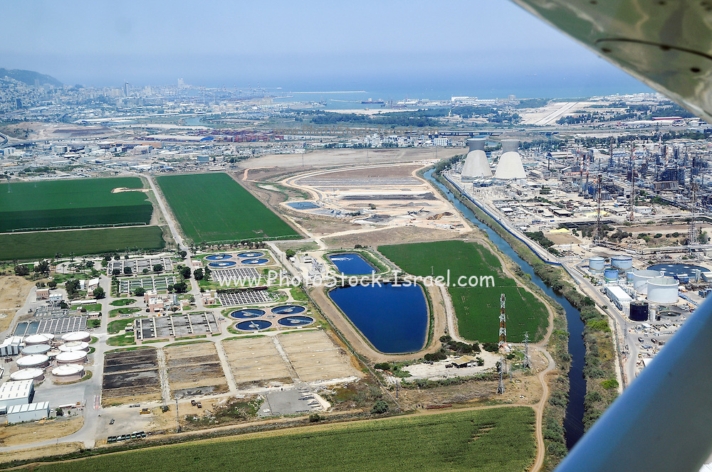 Bay Of Haifa Industrial Zone Aerial View Sewerage treatment plant