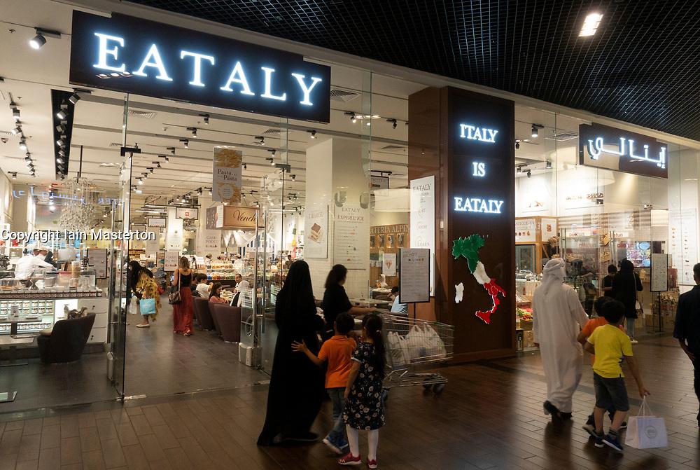 Eataly Italian supermarket and restaurant inside Dubai Mall, UAE