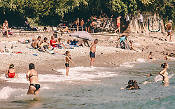 THEMENBILD - Badegäste am Kantrida Strand, aufgenommen am 14. August 2019 in Rijeka, Kroatien // Swimmers at Kantrida beach, pictured in Rijeka, Croatia on 2019/08/14. EXPA Pictures © 2019, PhotoCredit: EXPA/Stefanie Oberhauser