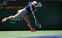 March 9, 2019 - Indian Wells, USA - Yulia Putintseva of Kazakhstan in action during her second-round match at the 2019 BNP Paribas Open WTA Premier Mandatory tennis tournament (Credit Image: © AFP7 via ZUMA Wire)