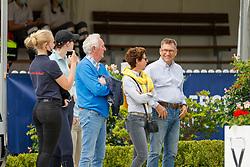 KRONBERG - Schafhof Dressurfestival 2021 2021<br /> <br /> THEODORESCU Monica (Bundestrainerin Dressur), RATH Klaus Martin (Veranstalter)<br /> Impression am Rande<br /> Preis der Liselott und Klaus Rheinberger Stiftung Dressurprüfung Kl. S*** - Einlaufprüfung zur Finalqualifikation zum Louisdor-Preis<br /> <br /> Kronberg, Gestüt Schafhof<br /> 25. June 2021<br /> © www.sportfotos-lafrentz.de/Stefan Lafrentz