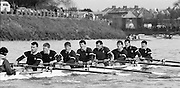 Chiswick. London.<br /> Eights starting from Mortlake<br /> Star Bedford, Jonny SINGFIELD Jon HULL, Mark BUCKINGHAM, Pete MULKERRINS<br /> 1987 Head of the River Race over the reversed Championship Course Mortlake to Putney on the River Thames. Saturday 28.03.1987. <br /> <br /> [Mandatory Credit: Peter SPURRIER;Intersport images] 1987 Head of the River Race, London. UK