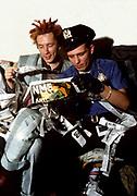 Big Audio Dynamite Medicine Show Video Shoot. with John Lydon and Paul Simonon London 1986