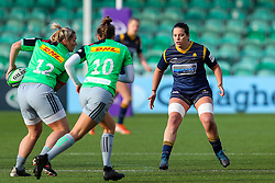 Sioned Harries of Worcester Warriors Women defends against Rachael Burford and Emily Scott of Harlequins Women - Mandatory by-line: Nick Browning/JMP - 20/12/2020 - RUGBY - Sixways Stadium - Worcester, England - Worcester Warriors Women v Harlequins Women - Allianz Premier 15s