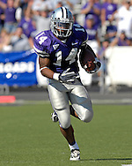 Kansas State running back Leon Patton rushed for 151-yards and a touchdown against Oklahoma State at Bill Snyder Family Stadium in Manhattan, Kansas, October 7, 2006.  The Wildcats beat the Cowboys 31-27.<br />