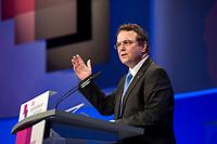 09 JAN 2012, KOELN/GERMANY:<br /> Hans-Peter Friedrich, CSU, Bundesinnenminister, haelt eine Rede, dbb Jahrestagung 2012, Messe Koeln<br /> IMAGE: 20120109-01-118<br /> KEYWORDS: Köln, Beamtenbund