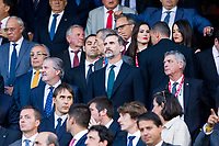 Spanish King Felipe during the match of  Copa del Rey (King's Cup) Final between Deportivo Alaves and FC Barcelona at Vicente Calderon Stadium in Madrid, May 27, 2017. Spain.. (ALTERPHOTOS/Rodrigo Jimenez)
