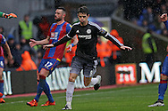 Oscar of Chelsea celebrates after he scores his sides 1st goal. Barclays Premier League match, Crystal Palace v Chelsea at Selhurst Park in London on Sunday 3rd Jan 2016. pic by John Patrick Fletcher, Andrew Orchard sports photography.