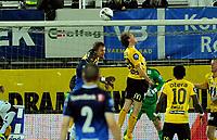 Fotball Herrer Tippeligaen 2013<br /> Marienlyst Stadion Gamle Gress  27.10.2013<br /> <br /> Strømsgodset vs Start<br /> <br /> Resultat <br /> <br /> Foto: Robert Christensen Digitalsport<br /> <br /> Strømsgodset dio med god mulighet