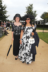Left to right, CATHERINE GIBBS and MRS GAVIN BURKE, she is actress Mimi March adopted daughter of the Duke of Richmond at the 3rd day of the 2008 Glorious Goodwood racing festival at Goodwood Racecourse, West Sussex on 31st July 2008.<br /> <br /> NON EXCLUSIVE - WORLD RIGHTS