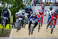 #6 (EVANS Kyle) GBR and #100 (MAHIEU Romain) FRA at Round 4 of the 2019 UCI BMX Supercross World Cup in Papendal, The Netherlands