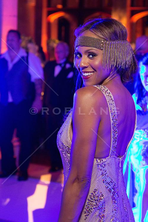 Singer and Actress Deborah Cox at a wedding reception