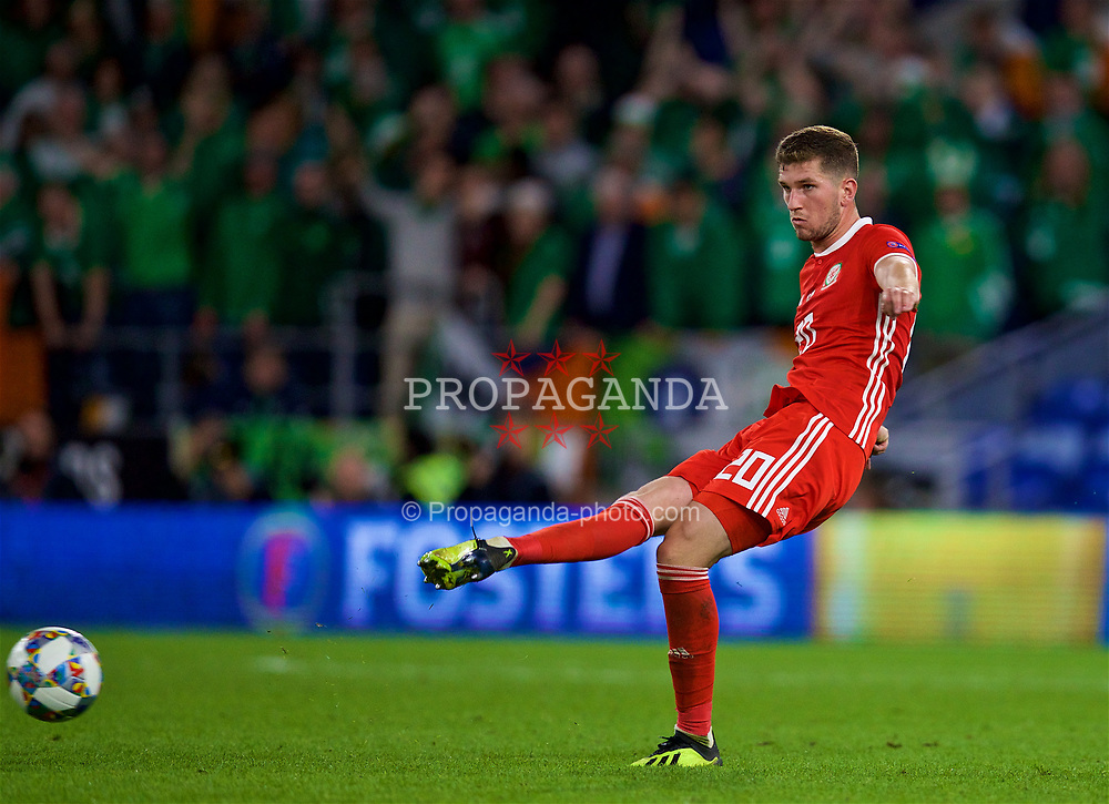 CARDIFF, WALES - Thursday, September 6, 2018: Wales' Chris Mepham during the UEFA Nations League Group Stage League B Group 4 match between Wales and Republic of Ireland at the Cardiff City Stadium. (Pic by David Rawcliffe/Propaganda)