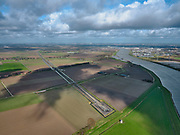 Nederland, Zuid-Holland, Dordrecht, 25-02-2020; Ingang tunnel HSL onder de Dordtsche Kil, gezien richting Hoeksche Waard. <br /> HST tunnel Dordtse Kil, seen in the direction of Hoeksche Waard.<br /> luchtfoto (toeslag op standard tarieven);<br /> aerial photo (additional fee required)<br /> copyright © 2020 foto/photo Siebe Swart