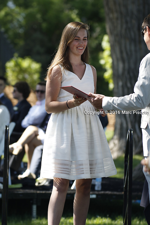 SHOT 6/2/16 9:42:43 AM - Colorado Academy Class of 2016 Commencement ceremonies at the Denver, Co. private school. The school graduated 88 seniors this year and the event capped a week filled with awards, tributes, and celebrations for the outgoing senior class. (Photo by Marc Piscotty / © 2016)