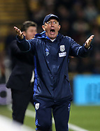 WBA's Tony Pulis looks on dejected during the Premier League match at Vicarage Road Stadium, London. Picture date: April 4th, 2017. Pic credit should read: David Klein/Sportimage