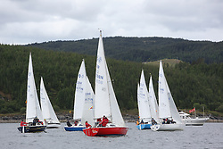 The Silvers Marine Scottish Series 2014, organised by the  Clyde Cruising Club,  celebrates it's 40th anniversary.<br /> Day 1<br /> Sonata, Class, Start, 8098N, Serenity, D Guthire/J Park, FYC<br /> <br /> Racing on Loch Fyne from 23rd-26th May 2014<br /> <br /> Credit : Marc Turner / PFM
