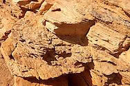 The layers of Sandstone on Ios Island Greece